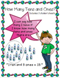 Place Value ~ How many tens and ones? ~ Earth Day Themed