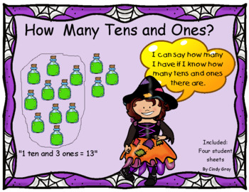 Place Value ~ How many tens and ones? ~ Halloween Themed