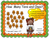 Place Value ~ How many tens and ones? ~ Thanksgiving Themed