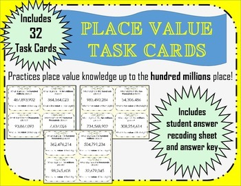 Place Value- Hundred Millions