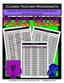 Place Value-Hundred Thousands-Value of Underlined Digit-Gr. 5-6 (5th-6th Gr.)