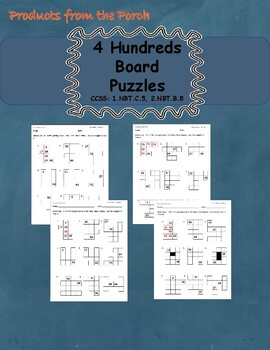 Place Value Hundred's Board Puzzles  1.NBT.C.5, 2.NBT.B.8