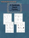 Place Value Hundred's Board Puzzles  1.NBT.C.5, 2.NBT.B.8