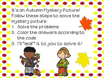 Place Value Hundreds Chart Autumn Mystery Picture