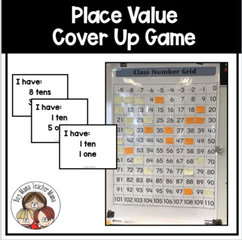 Place Value Hundreds Chart Cover Up Game