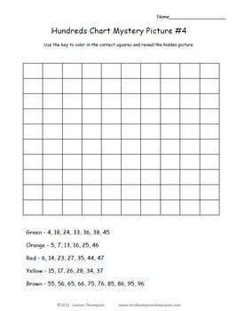 Place Value - Hundreds Chart Fun Mystery Picture Activities Bundle