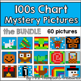 Place Value - Hundreds Chart Fun Mystery Pictures Bundle Thanksgiving Included