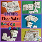 Place Value Hundreds - Math Buddy Game Packet