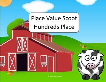 Place Value Scoot & Task Cards Hundreds Place