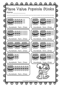 Place Value  Hundreds, Tens and Ones - Worksheets / Printables all No Prep