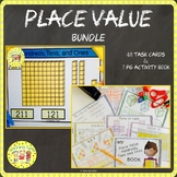 Place Value Hundreds, Tens and Ones Activity Book and Task Cards