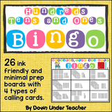 Hundreds, Tens and Ones Place Value Bingo Math Game Class Set