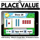 Place Value Hundreds, Tens and Ones Google Seesaw Math Task Cards