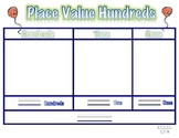 Place Value Hundreds, Tens and Ones Mat