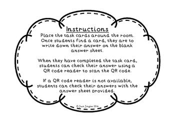 Place Value Hunt - QR Code Task Cards (Challenging)