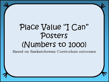 """Place Value """"I Can"""" Posters"""