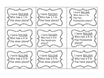 Place Value: I Have...Who Has?