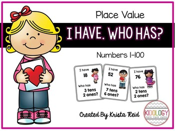 Place Value - I Have. Who Has Game
