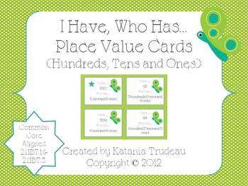 Place Value I Have, Who Has Hundreds Place