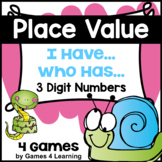 Place Value I Have Who Has: Place Value for 3 Digit Numbers, Hundreds Tens Ones