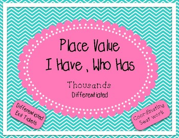 Place Value I Have Who Has for Thousands Period