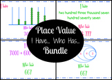 Place Value - I Have... Who Has... - 3 Pack Bundle