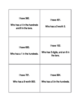 Place Value I have... Who has...