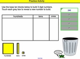 Place Value INTERACTIVE Smartboard Lesson (ones, tens, hundreds)