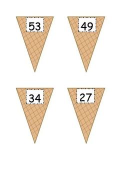 Place Value Ice Cream Game - No Regrouping