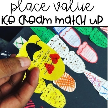 Place Value Ice Cream Match Up