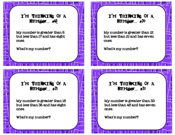 Place Value - I'm Thinking of a Number Set 2