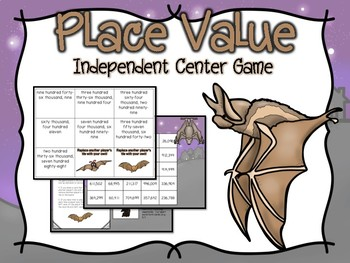 Place Value Independent Center Game #3