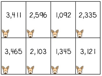 Place Value Independent Center Game #4
