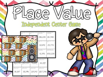 Place Value Independent Center Game #7
