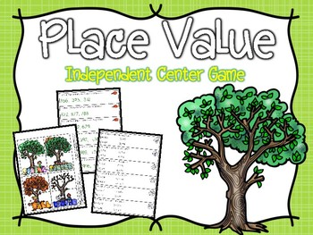 Place Value Independent Center Game #8