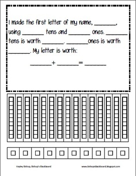 picture about Place Value Blocks Printable called Issue Price tag Initials with Printable Foundation 10 Blocks