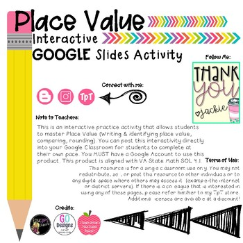 Place Value Interactive Activity