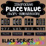Place Value Interactive Posters Bulletin Board Black Series Bright Neon Colors