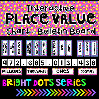 Place Value Posters Interactive Bulletin Board Chart Bright Dots