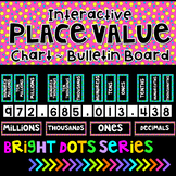 Place Value Chart Posters Interactive Bulletin Board-Black Series Wall Display