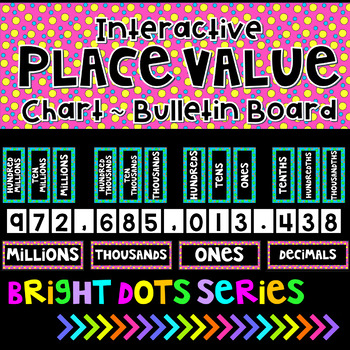 Place Value Interactive Bulletin Board Chart-Black Series