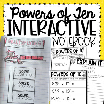 Powers of 10 Interactive Notebook {5.NBT.2}