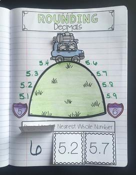 Rounding Interactive Notebook {5.NBT.4}