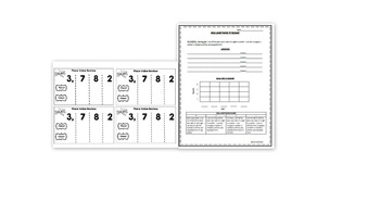 Place Value Interactive Notebook Components
