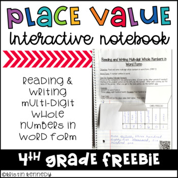 FREE Place Value Interactive Notebook