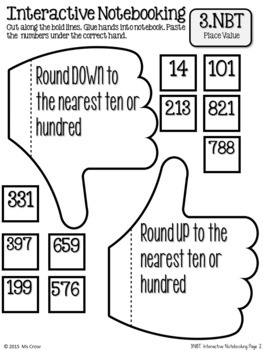 Place Value Interactive Notebook Freebie