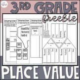 3rd Grade Math Place Value Interactive Notebook Freebie
