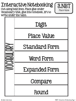 3rd Grade Math Place Value Interactive Notebook Freebie