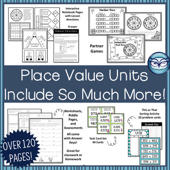 Place Value Interactive Notebook Grade 4: CCSS Aligned
