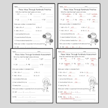 Place Value Worksheets and Interactive Notebook Freebie